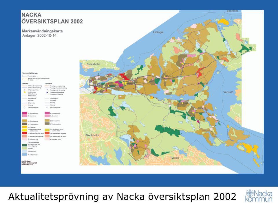 Aktualitetsprövning av Nacka översiktsplan 2002