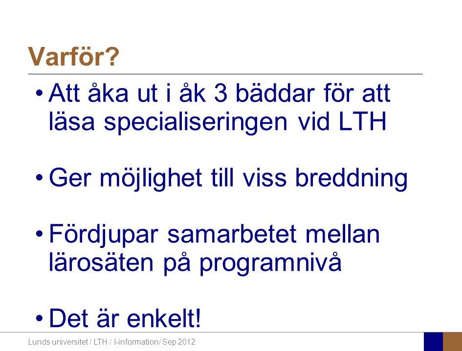 Lunds universitet / LTH / I-information/ Sep 2012 Vad är UConn.