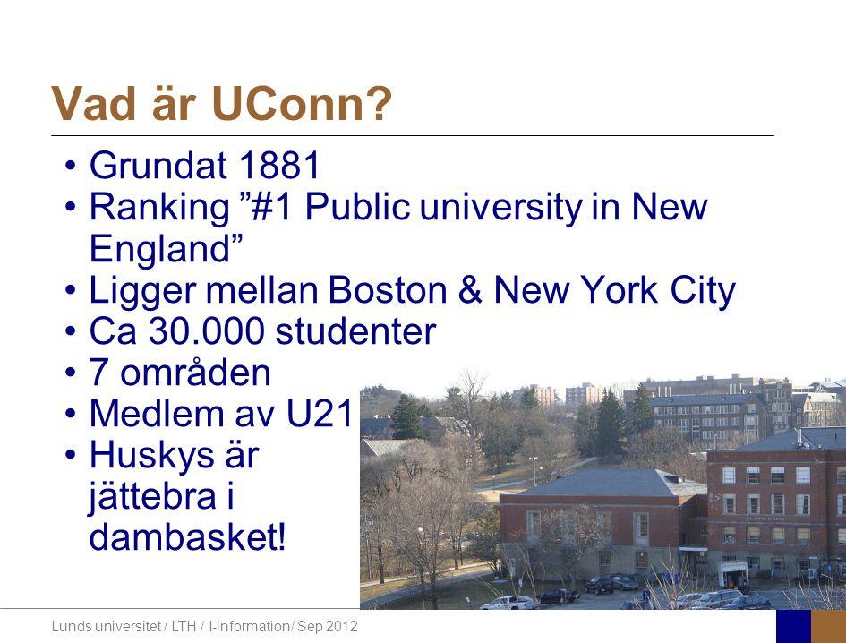 Lunds universitet / LTH / I-information/ Sep 2012 Var hittar jag mer information.