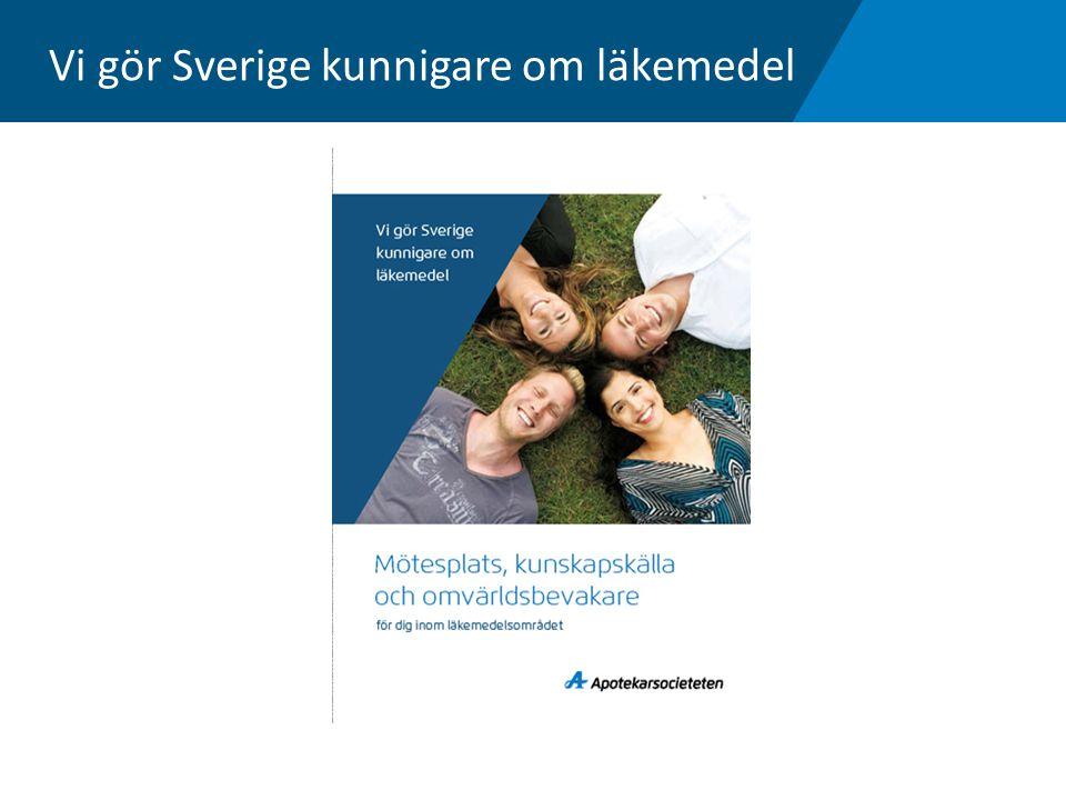 Vi gör Sverige kunnigare om läkemedel