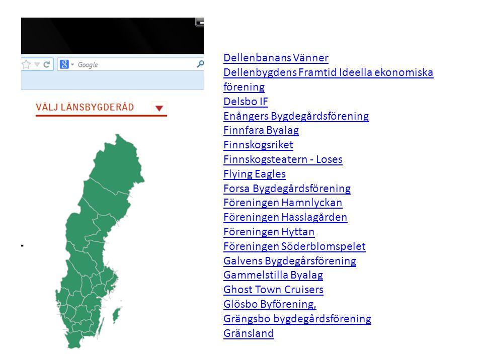 Acktjära Byförening Bollnäs Gävleborgs län ALLIS KBR Söderhamn Gävleborgs län Arbrå Hemslöjdsförening Vallsta Gävleborgs län Axmarby Intresseförening