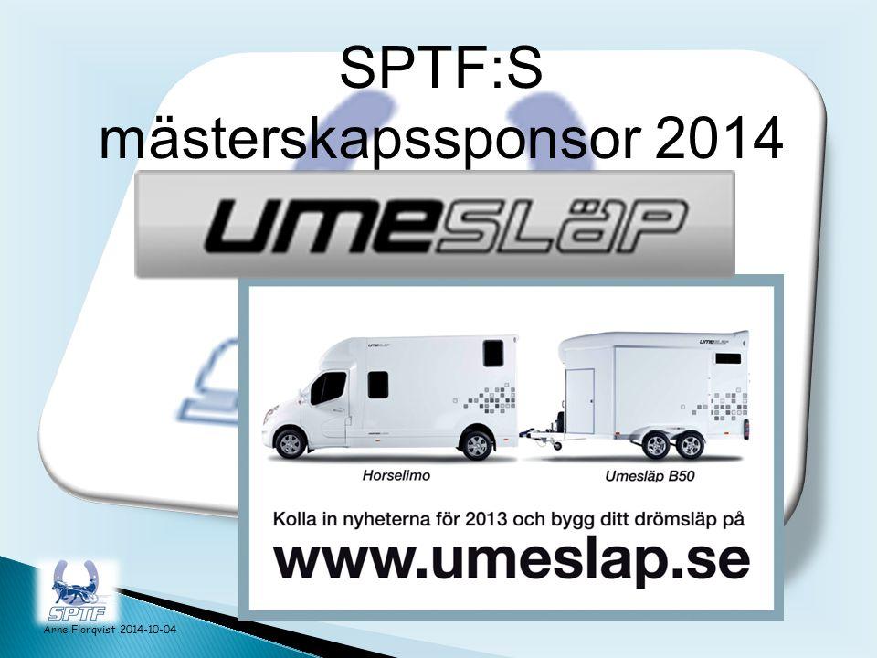 Arne Florqvist 2014-10-04 SPTF:S mästerskapssponsor 2014