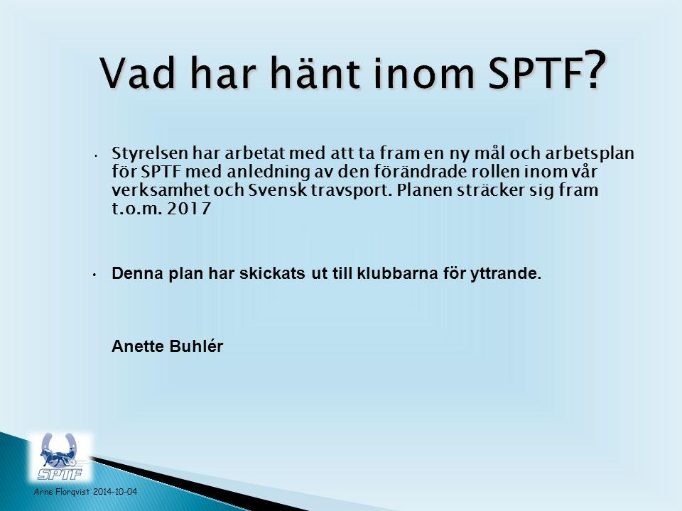 Styrelsen har arbetat med att ta fram en ny mål och arbetsplan för SPTF med anledning av den förändrade rollen inom vår verksamhet och Svensk travsport.