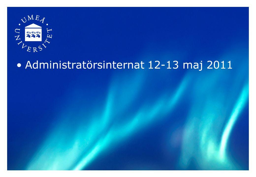 Administratörsinternat 12-13 maj 2011