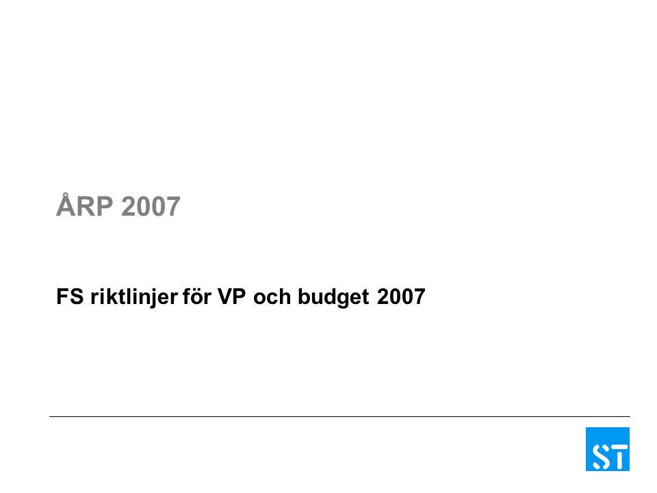 ÅRP 2007 FS riktlinjer för VP och budget 2007