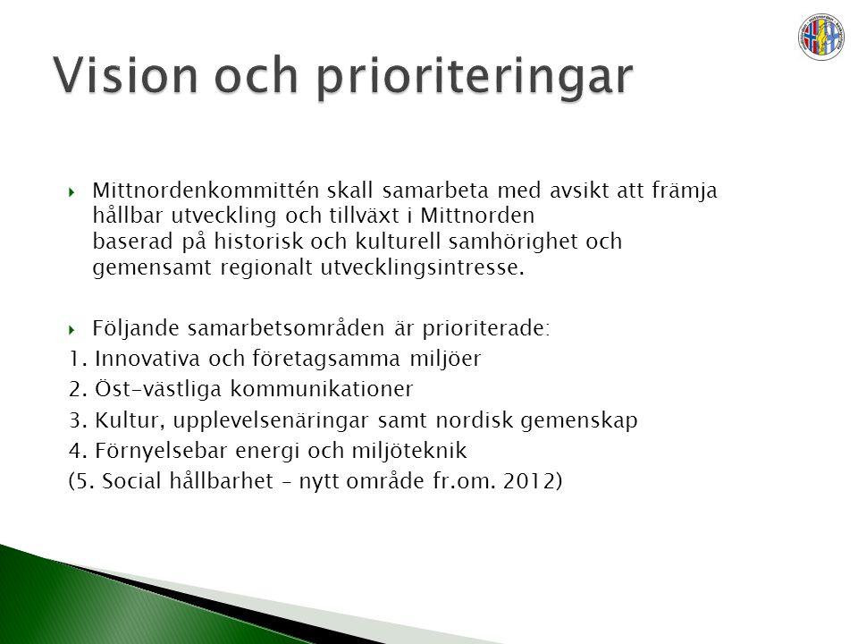  Mittnordenkommittén skall samarbeta med avsikt att främja hållbar utveckling och tillväxt i Mittnorden baserad på historisk och kulturell samhörighe