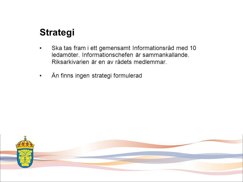 Strategi Ska tas fram i ett gemensamt Informationsråd med 10 ledamöter.
