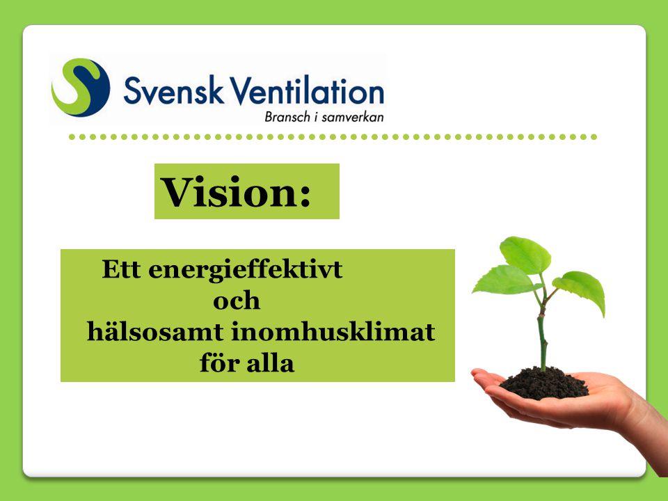 Ett energieffektivt och hälsosamt inomhusklimat för alla …………………………………………… Vision: