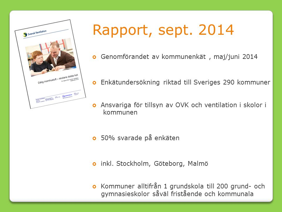 Rapport, sept.