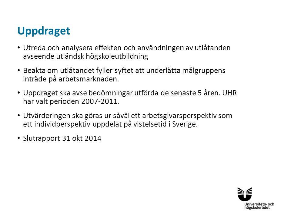 Sv Övergripande syfte med verksamheten är att bidra till målet att underlätta etableringen av utländska akademiker på arbetsmarknaden och att förkorta tiden från ankomst till arbete på rätt nivå Bedömningsverksamheten påverkas av vad som händer i omvärlden och vad som sker i Sverige.