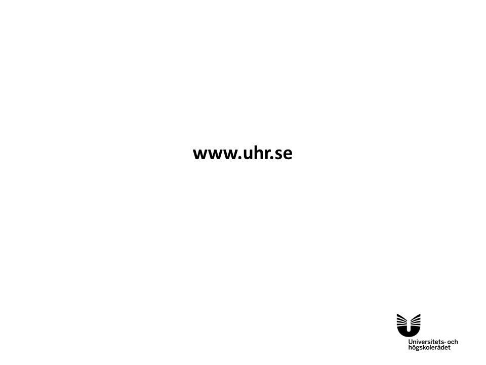 Sv www.uhr.se Denna layout kan användas för UHR:s samarbetslogotyper/underlogotyper. Placera logotyperna enligt exemplen nedan.