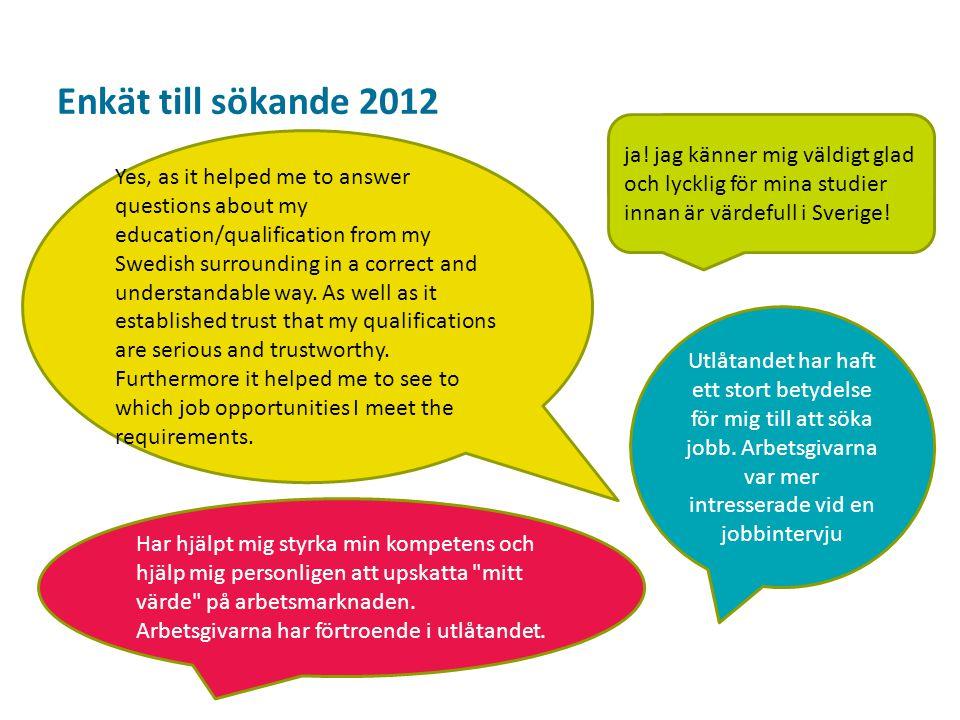 Sv Enkät till sökande 2012 Not really.