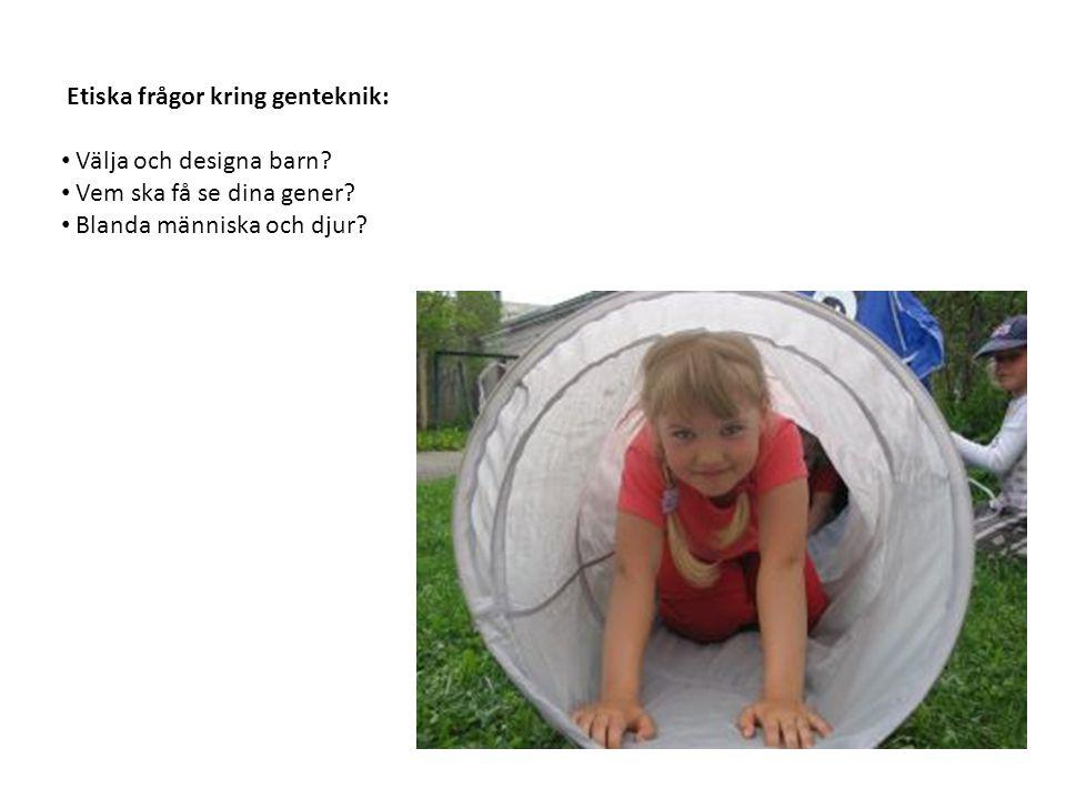 Etiska frågor kring genteknik: Välja och designa barn.