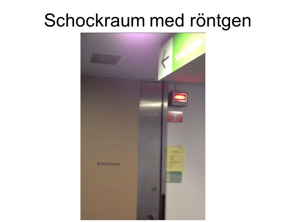 Schockraum med röntgen