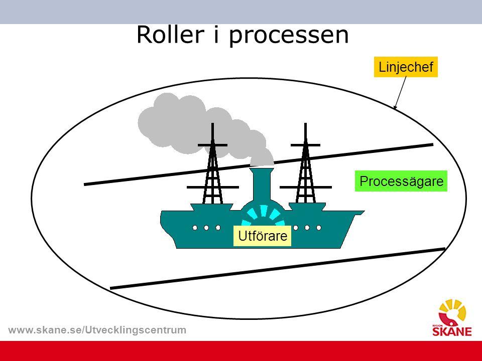 www.skane.se/Utvecklingscentrum Linjechef Utförare Processägare Roller i processen