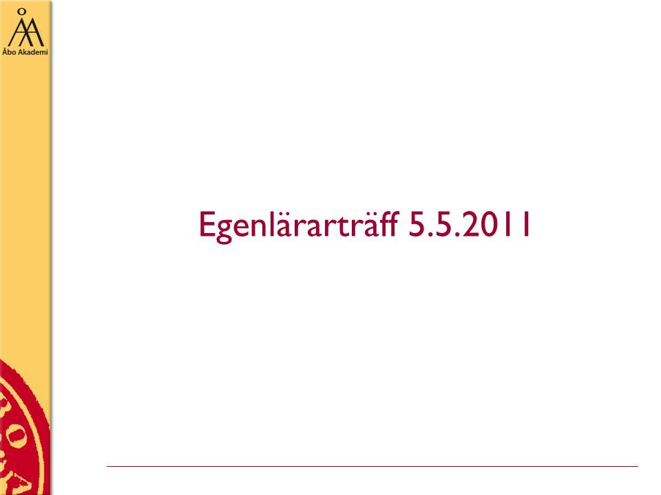 Egenlärarträff 5.5.2011