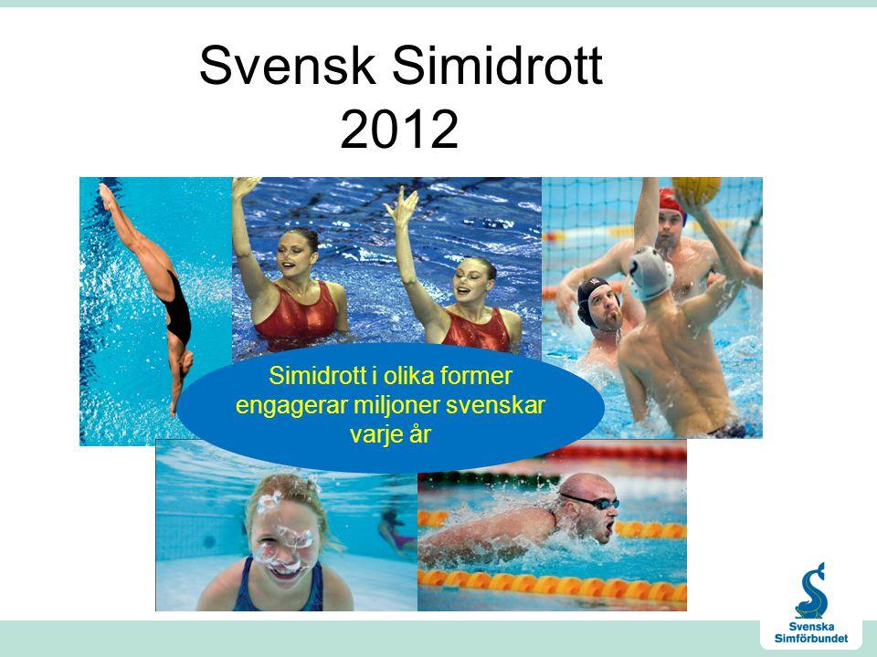 Svensk Simidrott 2012 Simidrott i olika former engagerar miljoner svenskar varje år