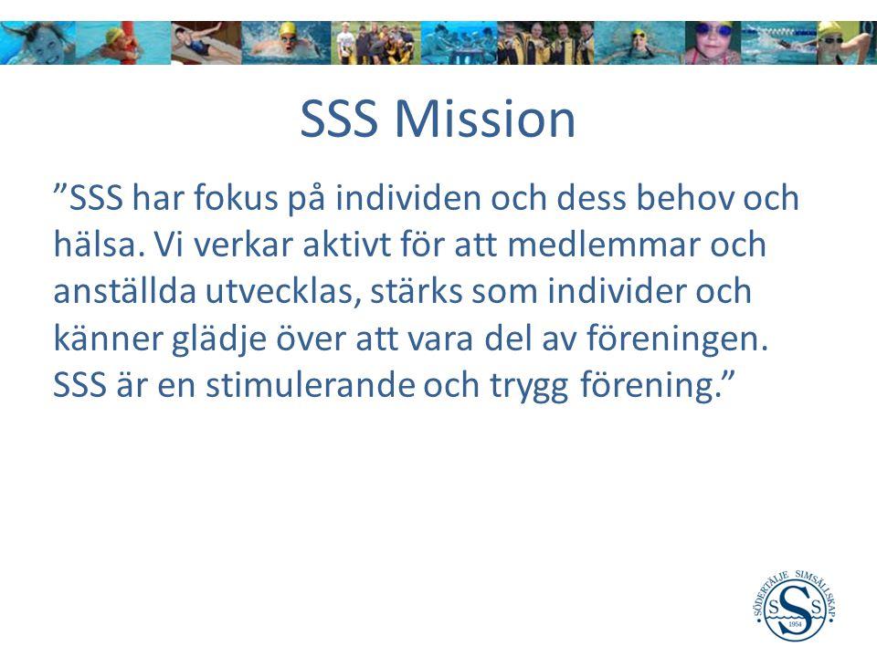 SSS Mission SSS har fokus på individen och dess behov och hälsa.