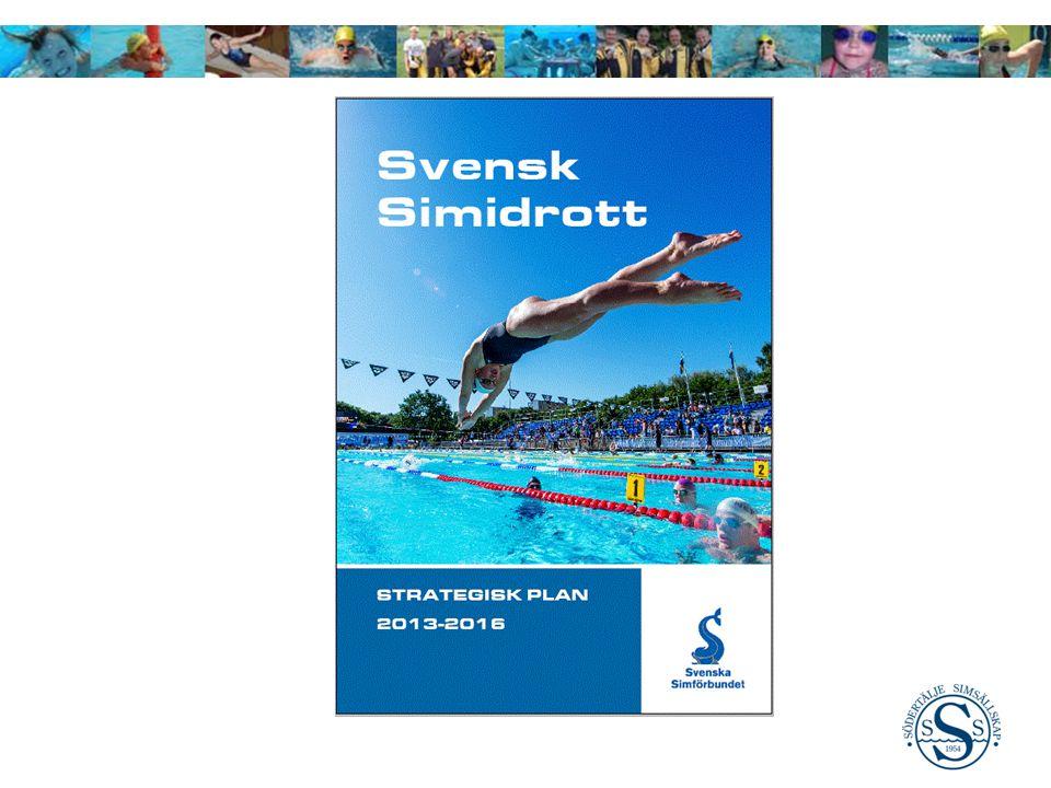 Prioriterade Områden för SSS 2013 – 2016 (från SSF) Simidrott för alla (Simförutsättning för alla) Ökat deltagarantal vid 20%.