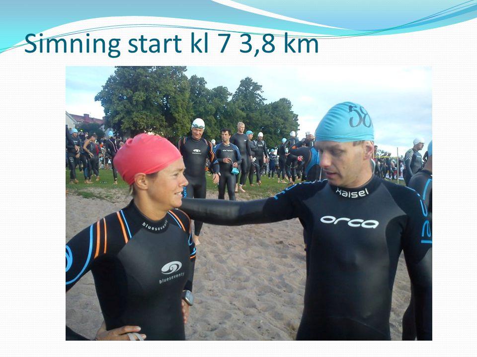 Simning start kl 7 3,8 km