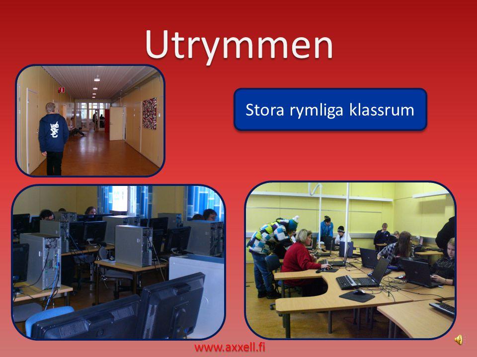 Utrymmen Stora rymliga klassrum Stora rymliga klassrum www.axxell.fi