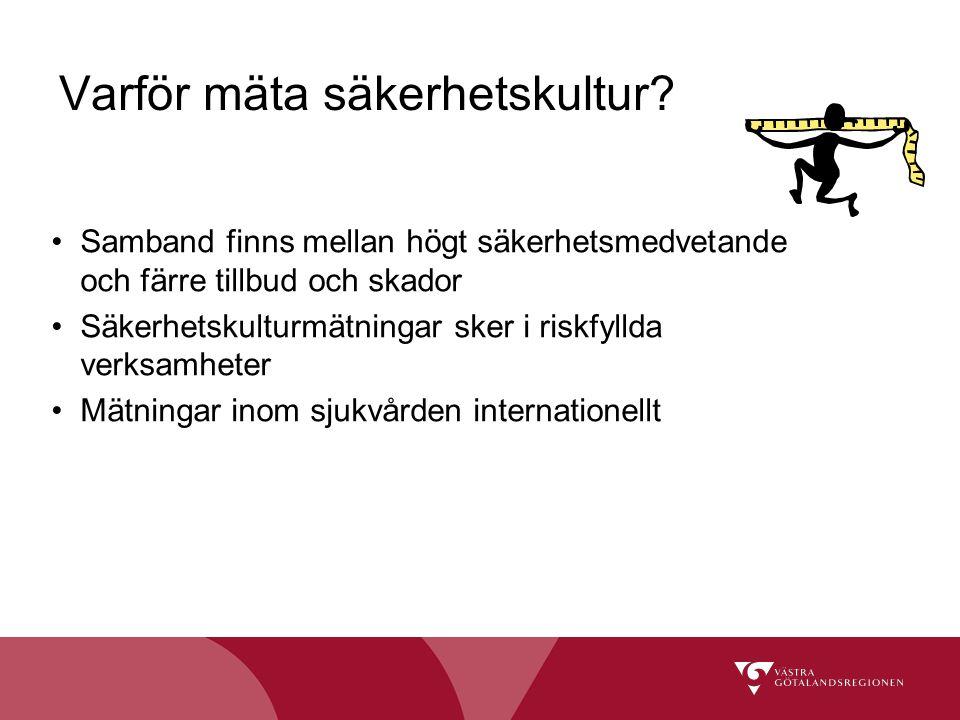 Handbok Att mäta patientsäkerhetskulturen Länk till handboken: http://www.socialstyrelsen.se/publikationer2009/2009-126-12