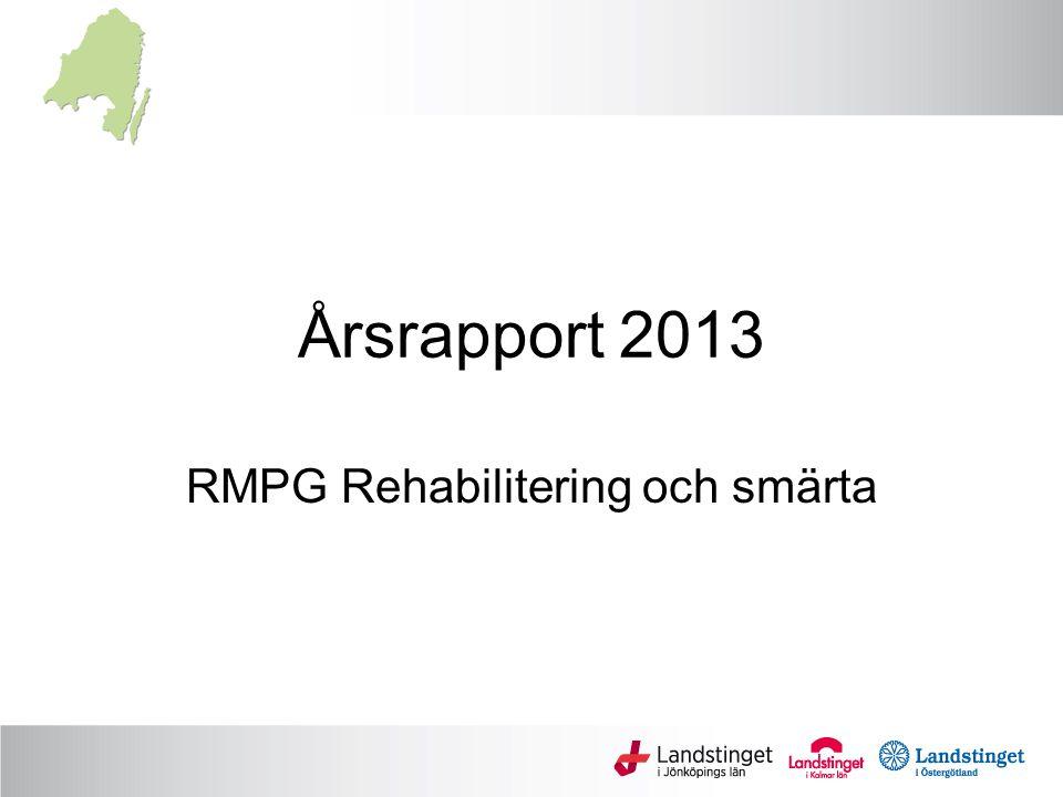 Årsrapport 2013 RMPG Rehabilitering och smärta