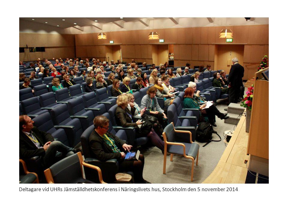 Deltagare vid UHRs Jämställdhetskonferens i Näringslivets hus, Stockholm den 5 november 2014