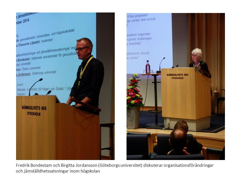 Fredrik Bondestam och Birgitta Jordansson (Göteborgs universitet) diskuterar organisationsförändringar och jämställdhetssatsningar inom högskolan