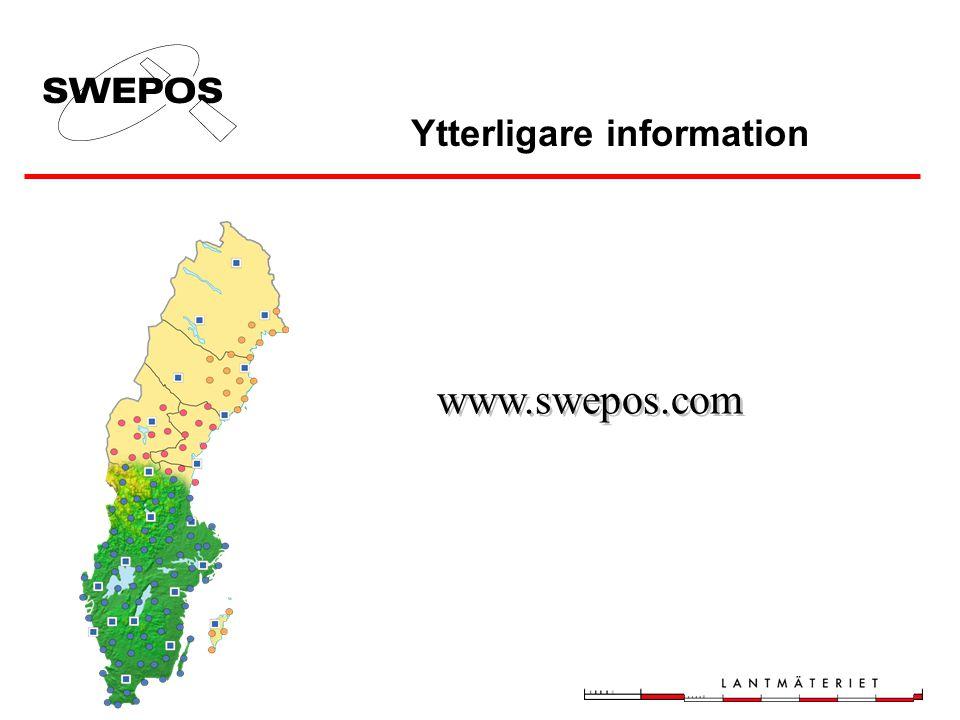 Ytterligare information www.swepos.com