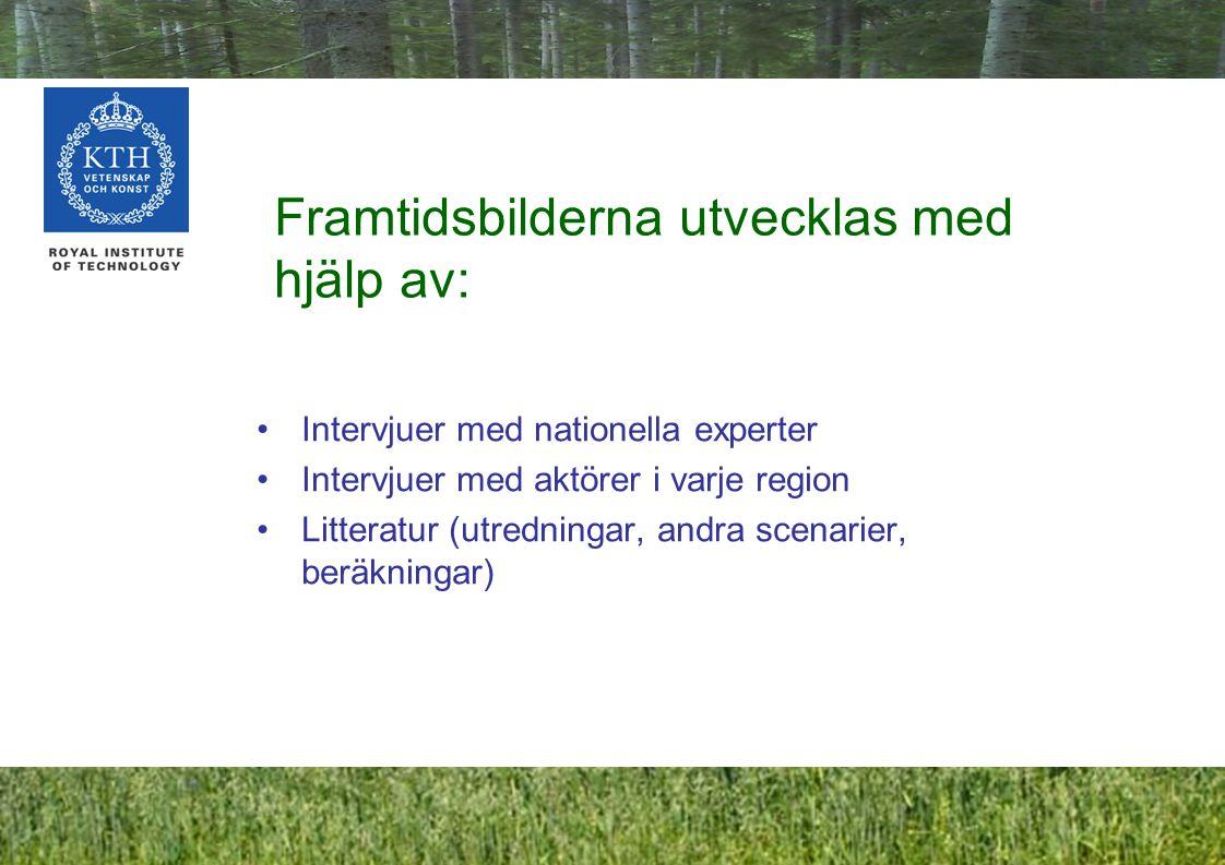 7 Frågor i intervjuer och workshopar med kommuntjänstemän Vilka trender (faktorer) i omvärlden och i Sverige/Falköping/Västervik kan påverka markanvändningen i framtiden.