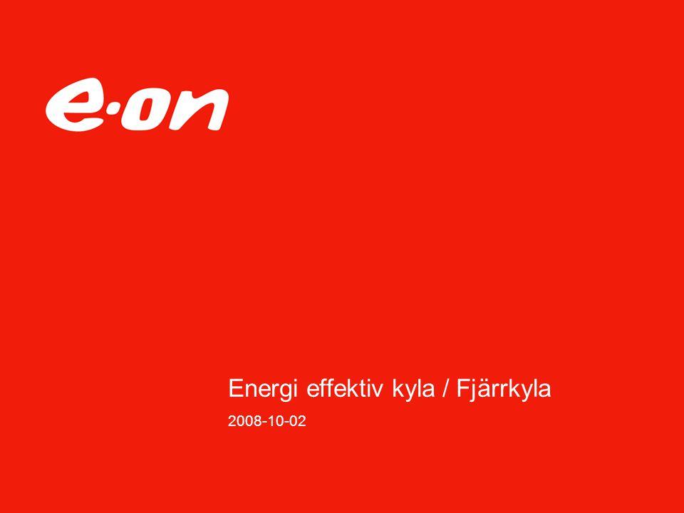 Energi effektiv kyla / Fjärrkyla 2008-10-02