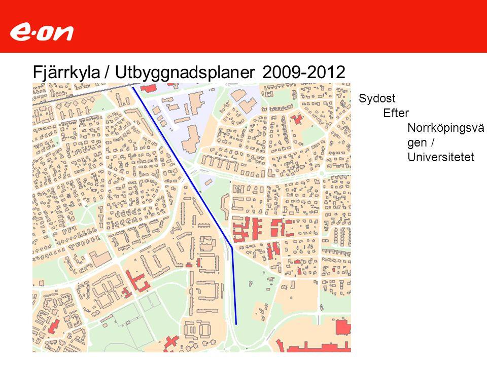 Fjärrkyla / Utbyggnadsplaner 2009-2012 Sydost Efter Norrköpingsvä gen / Universitetet