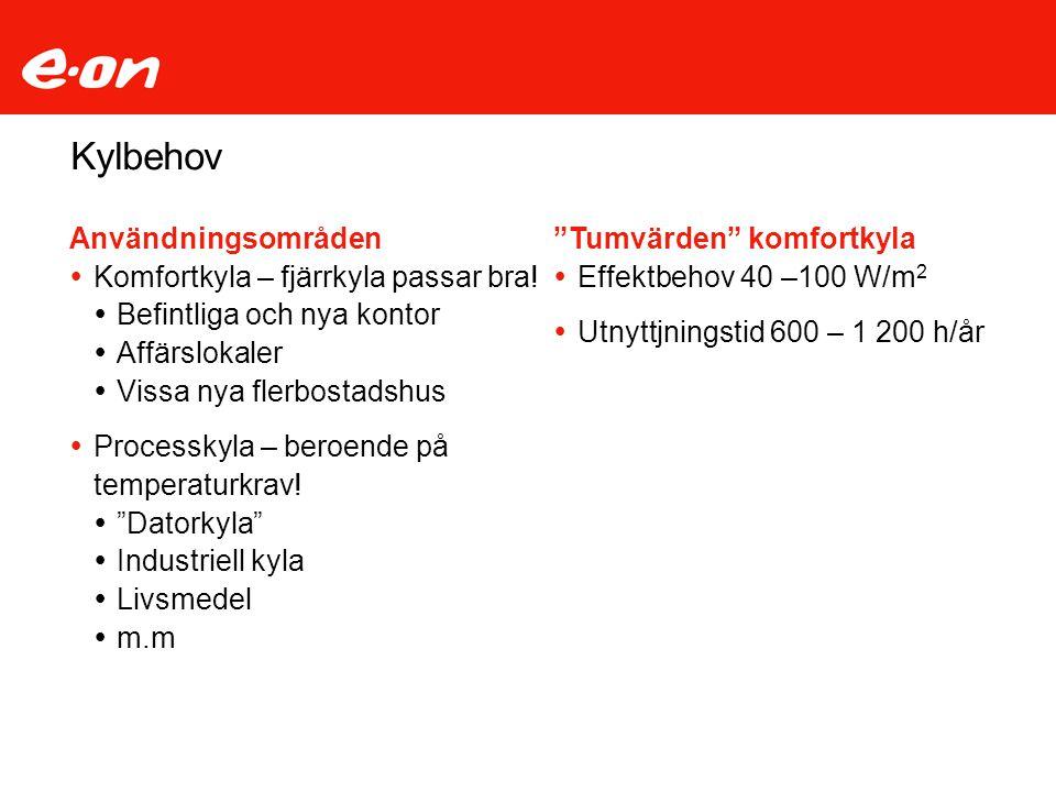 Fjärrkyla / Utbyggnadsplaner 2009-2012 Centrum norr Norrcity Norr om Västra Nobelgatan