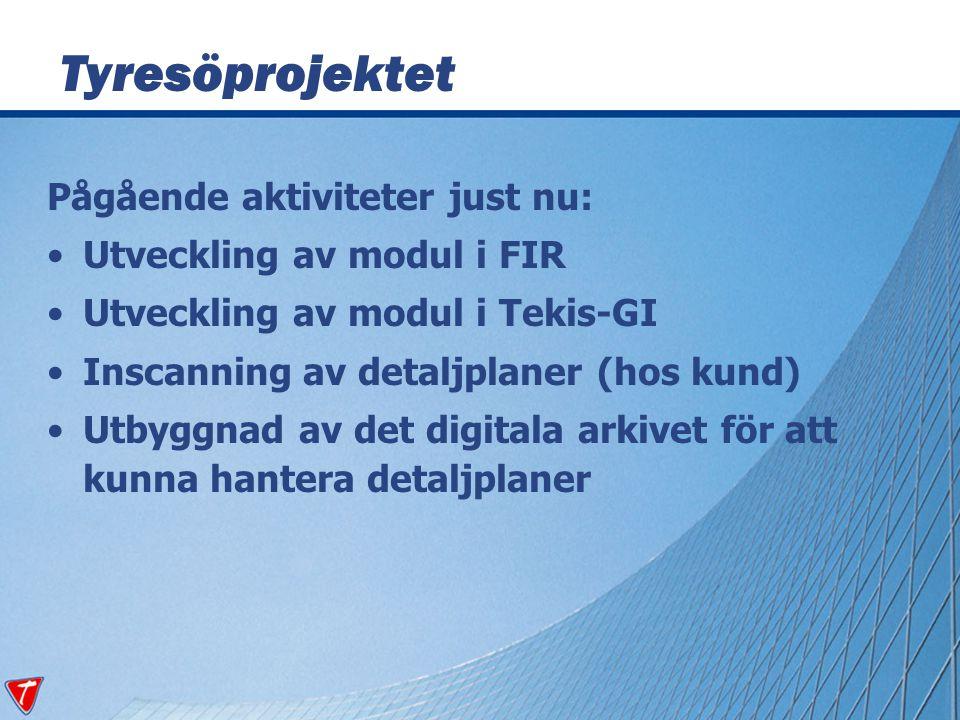 Projektet kan beskrivas med fyra användningsfall: Visa arkivhandlingar från FIR Visa arkivhandlingar från Tekis-GI Visa detaljplanekartor från FIR Visa detaljplanekartor från kartan Användningsfall