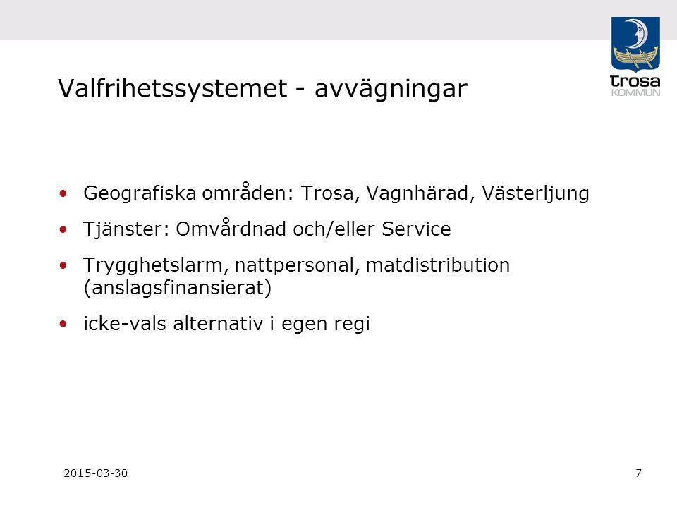 2015-03-308 Ersättningssystem Ersättning för utförd tid, inte beviljad tid.