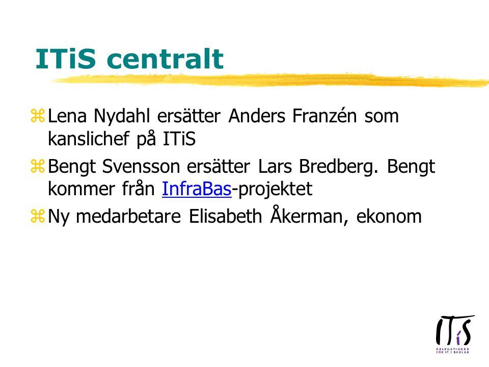 ITiS centralt zLena Nydahl ersätter Anders Franzén som kanslichef på ITiS zBengt Svensson ersätter Lars Bredberg.