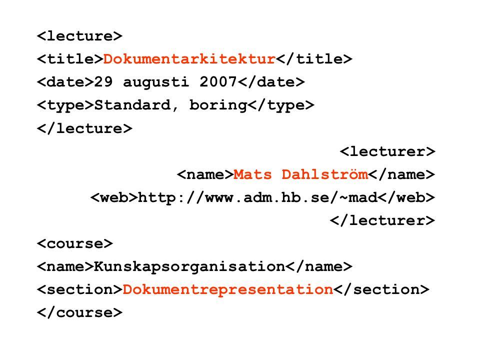 m e n y 1.dokumentrepresentation 2.dokument 3.textkodning 4.arkitektur