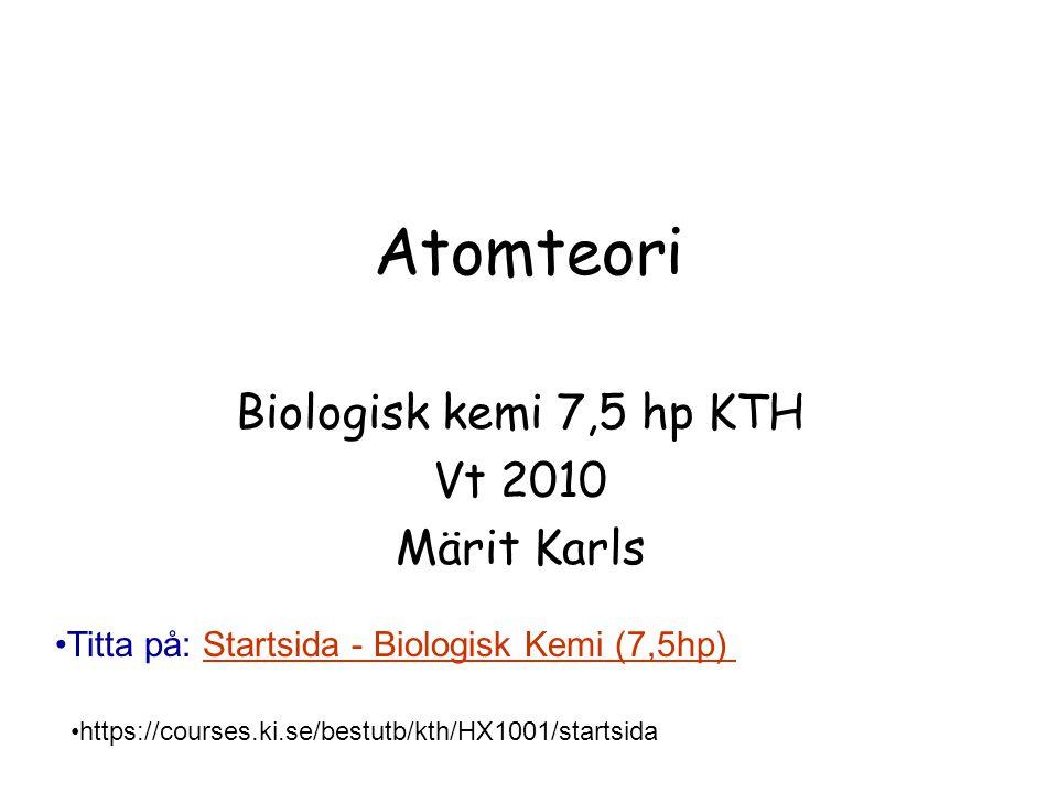 Atomteori Holum kap.3 Vad är det som gör att vissa grundämnen är släkt Vad är det som påverkar ett grundämnes kemiska egenskaper?