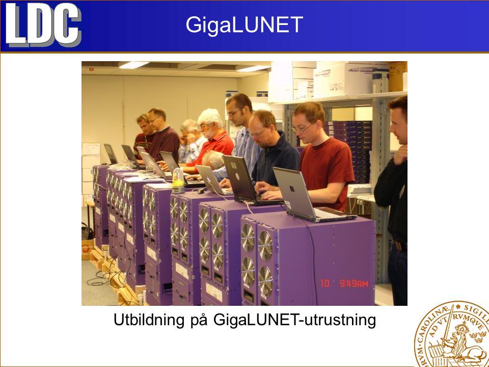 GigaLUNET Utbildning på GigaLUNET-utrustning