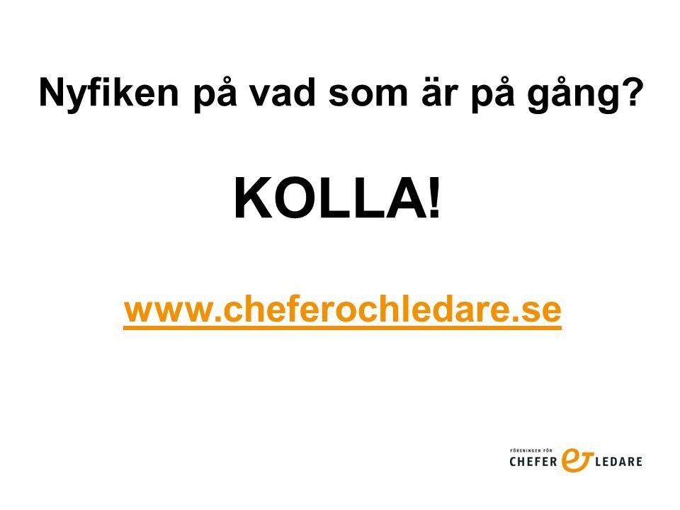 Nyfiken på vad som är på gång KOLLA! www.cheferochledare.se