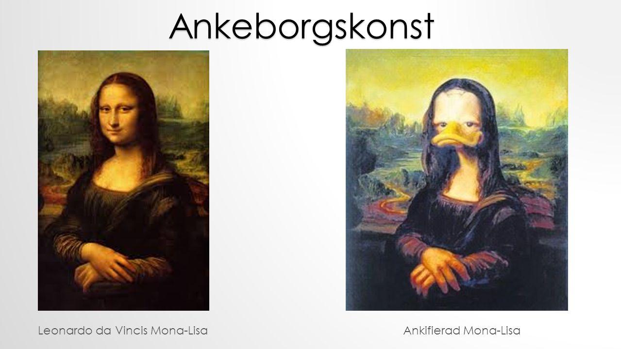 Leonardo da Vincis Mona-Lisa Ankeborgskonst Ankifierad Mona-Lisa