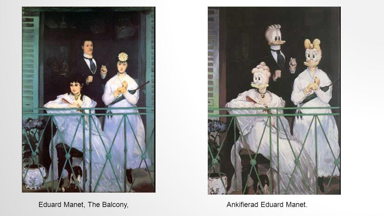 Eduard Manet, The Balcony,Ankifierad Eduard Manet.
