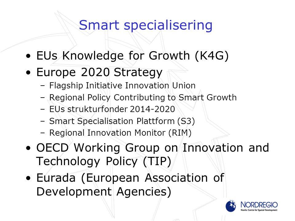 Bakgrunden Ökat fokus på innovation –FoU-gapet mellan Europa och USA –General Purpose Technologies (ICT) Globala utmaningar Specialisering och regionalpolitik En ekonomisk omvandlingsprocess (4C) –Choices –Competitive Advantages –Critical Mass –Cooperative Leadership