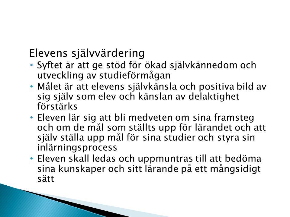 Bedömning av elever som är i behov av särskilt stöd Vid bedömningen bör användas sådana metoder genom vilka eleven på bästa möjliga sätt kan påvisa sina kunskaper Grunderna för bedömningen fastställs i den individuella planen (IP) Bedömning av elever med invandrarbakgrund Elevens bakgrund och kunskaper i svenska skall beaktas Mångsidiga och flexibla bedömningsmetoder anpassade till elevens situation Bedömningen kan vara verbal under hela den grundläggande utbildningen med undantag av slutbedömning
