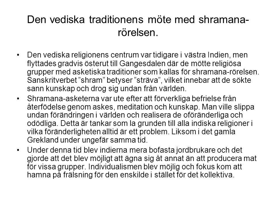 Den vediska traditionens möte med shramana- rörelsen.