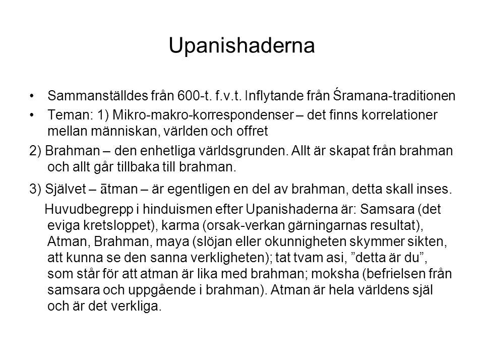 Upanishaderna Sammanställdes från 600-t.f.v.t.
