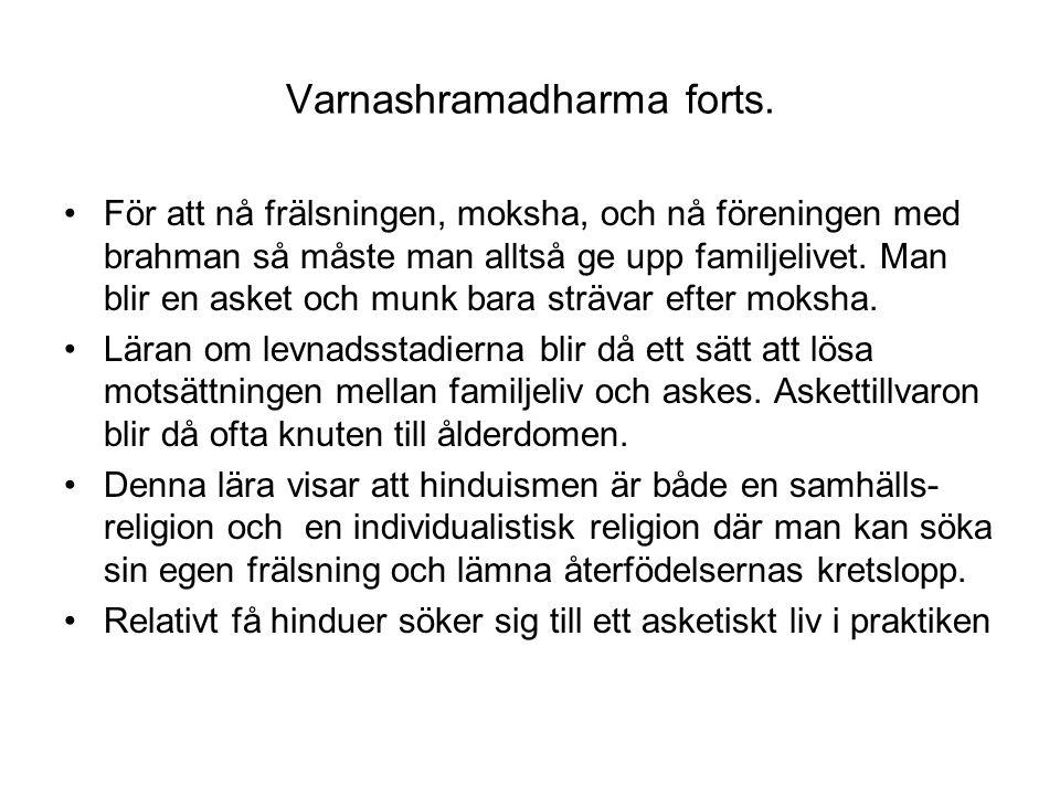 Varnashramadharma forts.