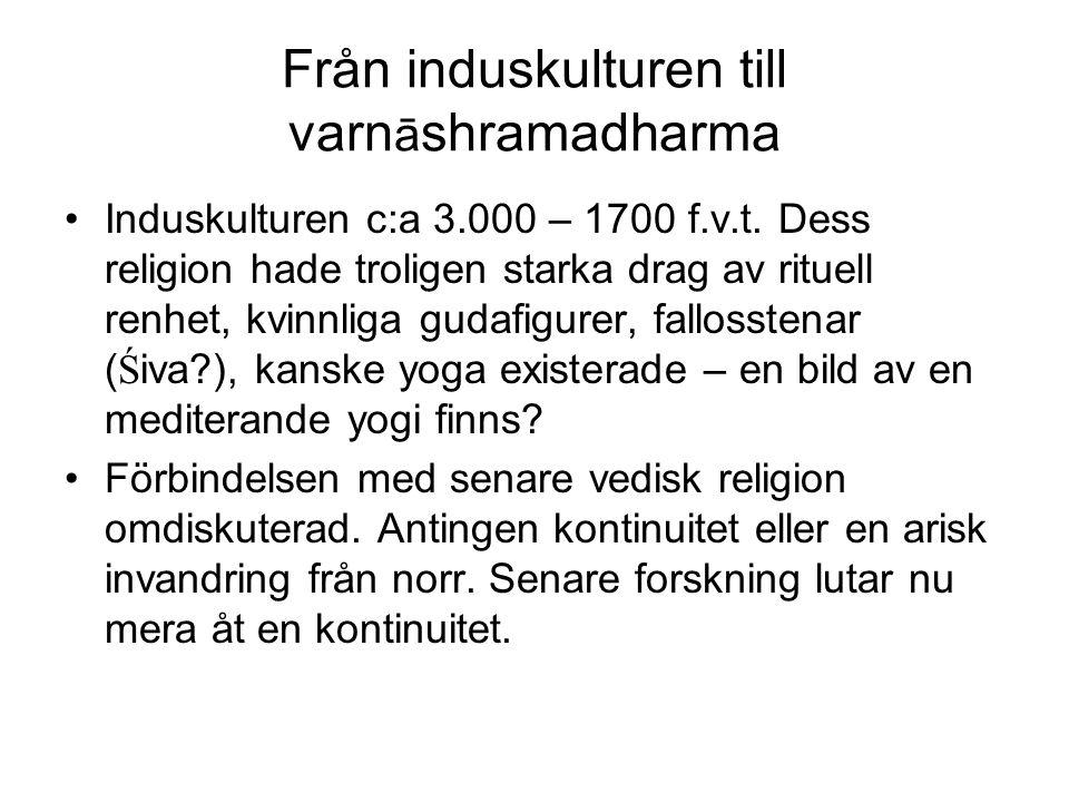 Varnāshramasystemet Varn āshrama-systemet syftar p å att det finns r ä ttigheter och plikter knutna till klass (varna) och levnadsstadium (āshrama) Varna är en ideologisk term som klassificerar de olika kasterna i en hierarki av fyra: prästklassen (brahmana), krigarklassen (kshatriya), bonde- och köpmansklassen (vaishya) och tjänarklassen (shudra).