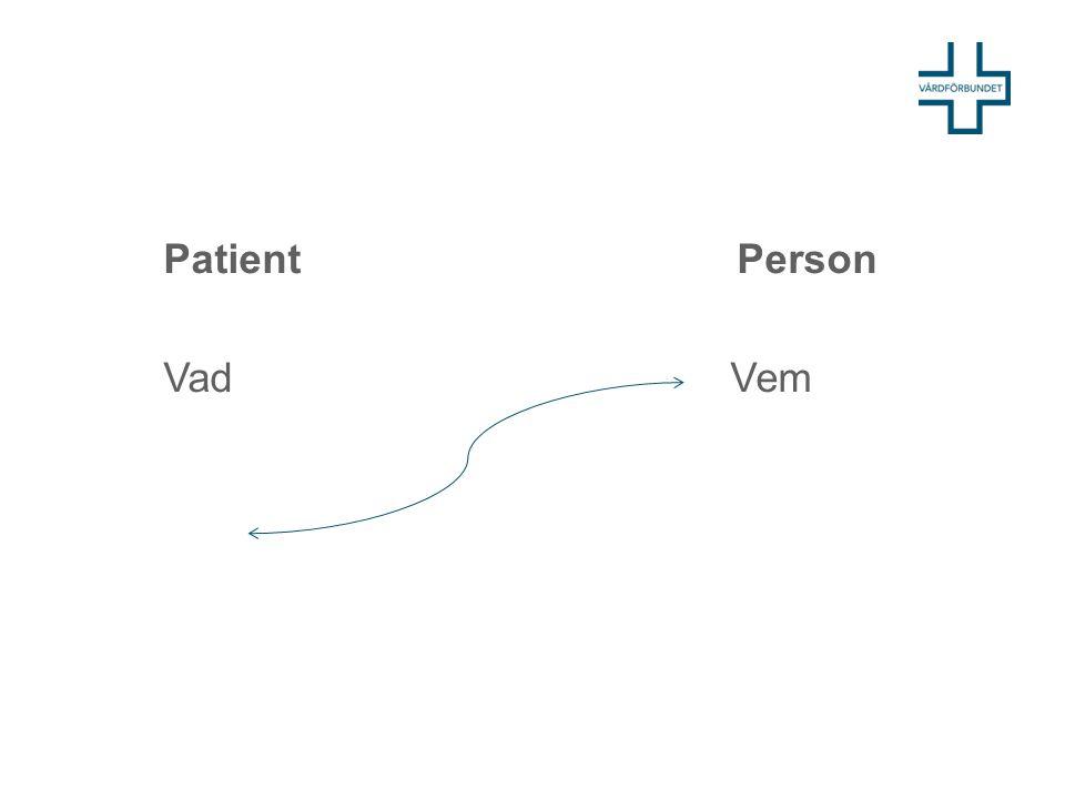 Kund, patient, brukare, person- patient ett löfte – en reflektion Val av vård leder till att människor ges kunderbjudanden som de ska ta aktiv ställning till.